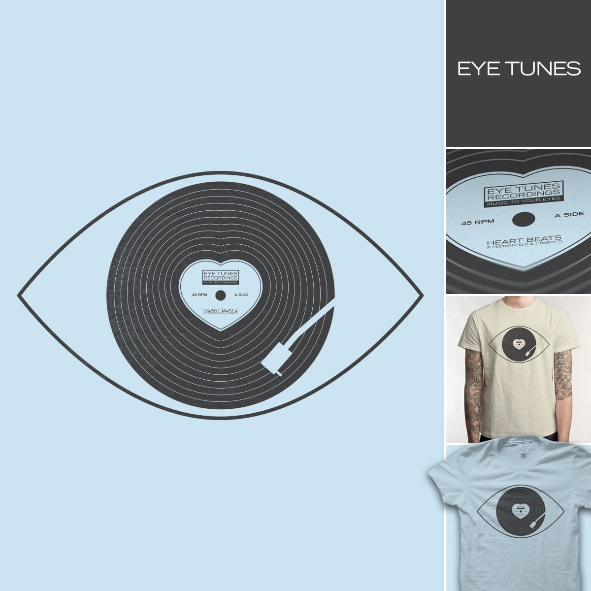 EYE TUNES by quick-brown-fox and FRICKINAWESOME on Threadless
