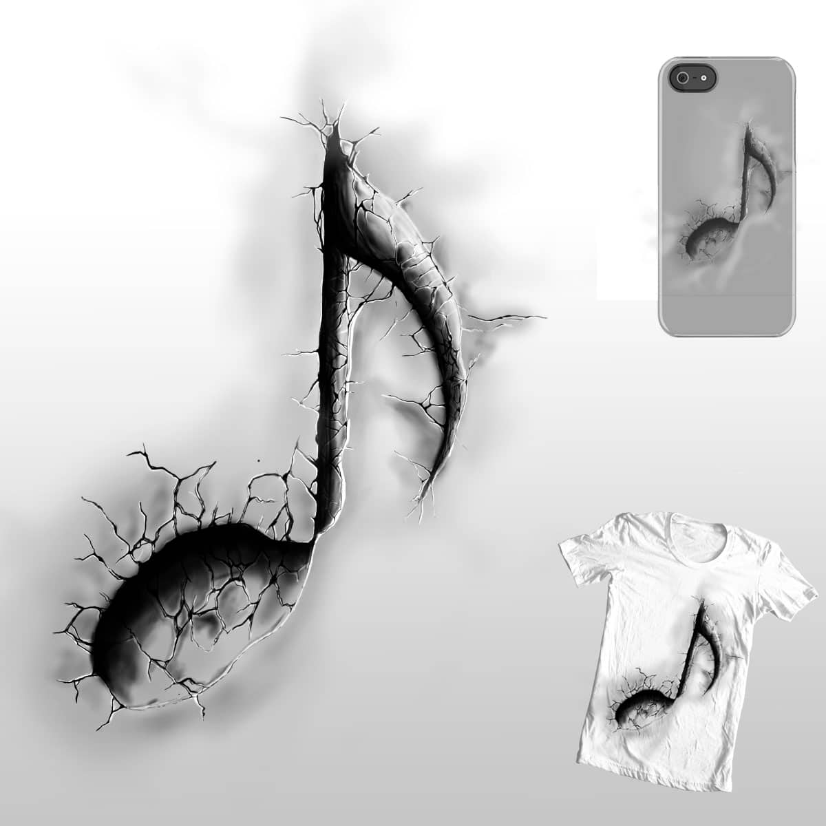 cracked note by hadee on Threadless