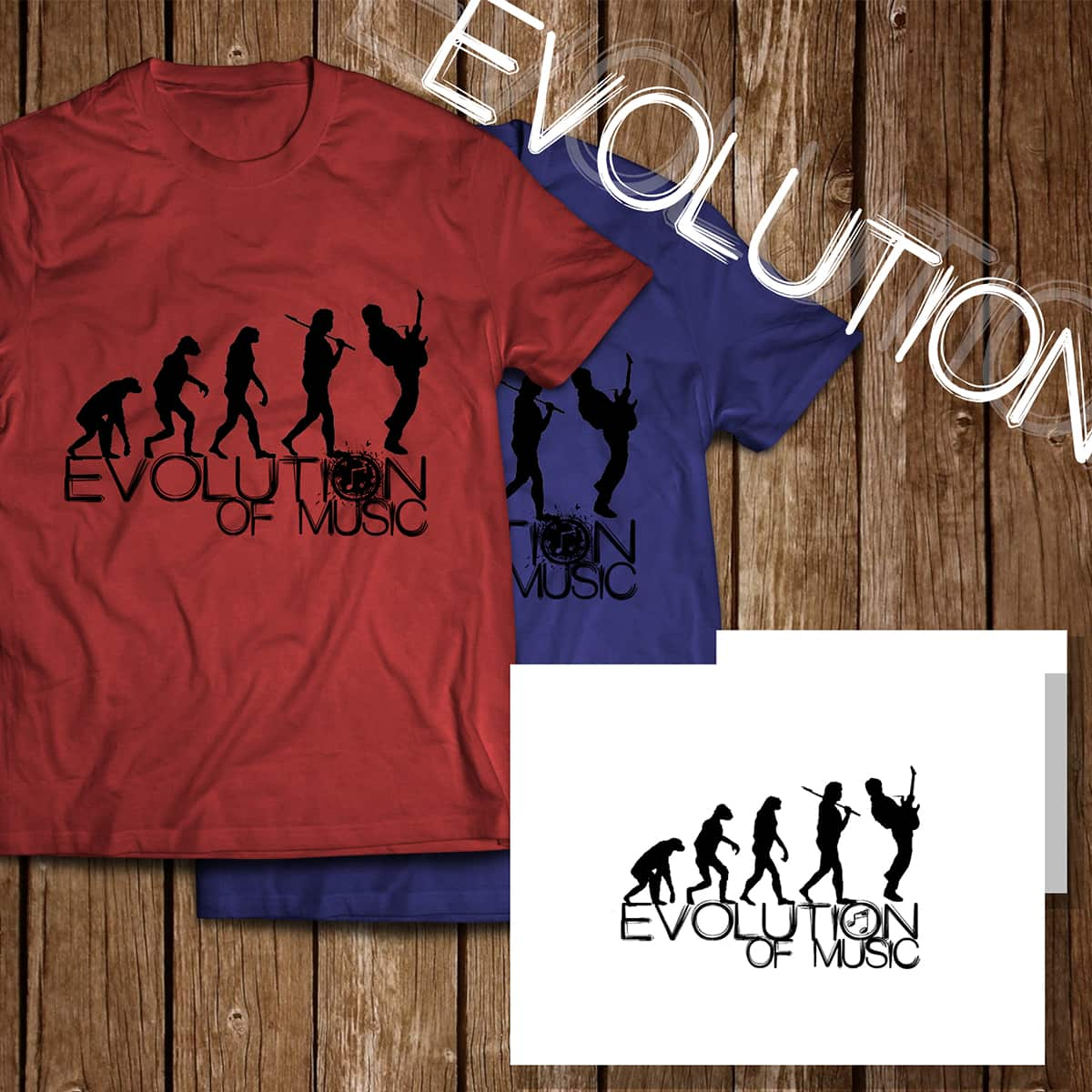 Evolution of Music by Skyzunlimited on Threadless