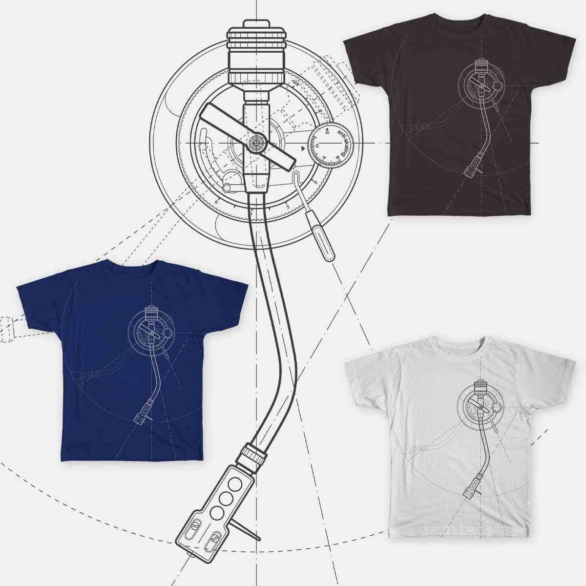 Turntable Arm by draftsman on Threadless