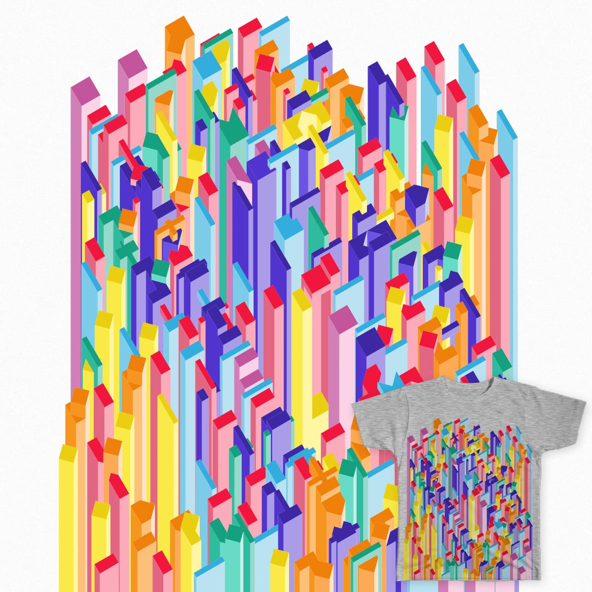 Spontaneously Planned City by JP_Torrealba on Threadless