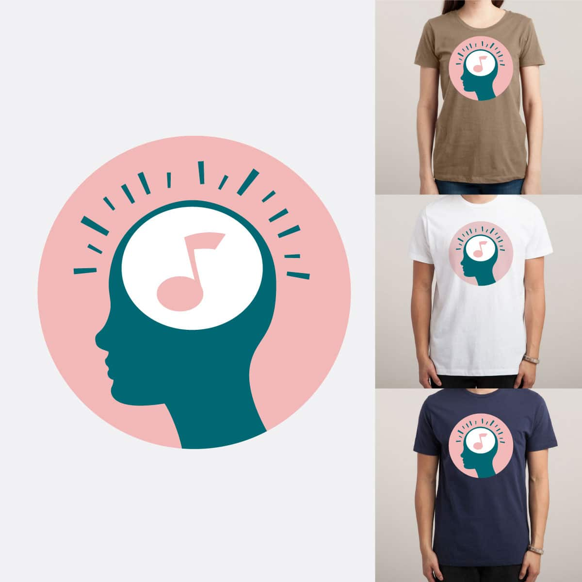 Music in my mind by Alekksall on Threadless
