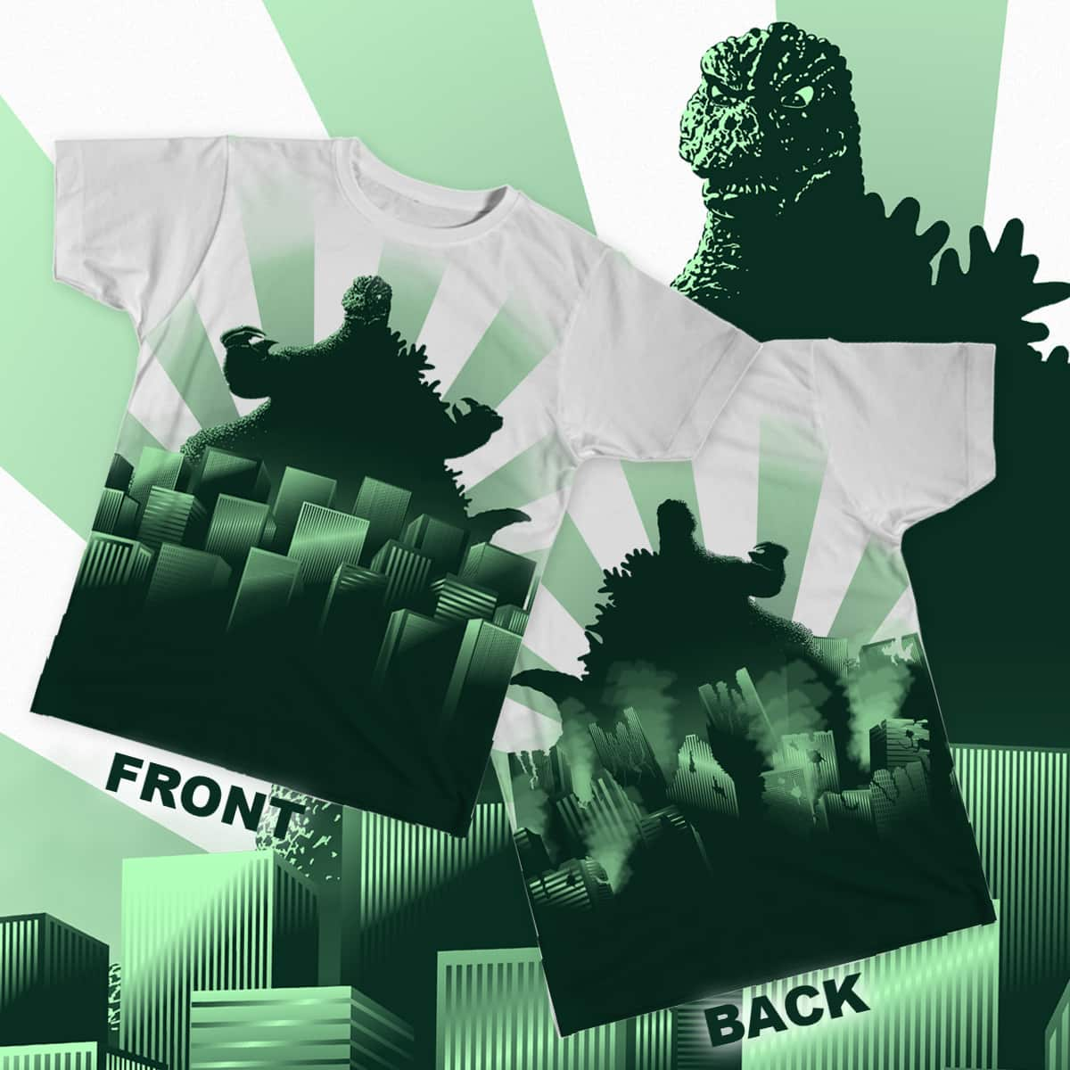 King of all Monsters by benphillippe on Threadless