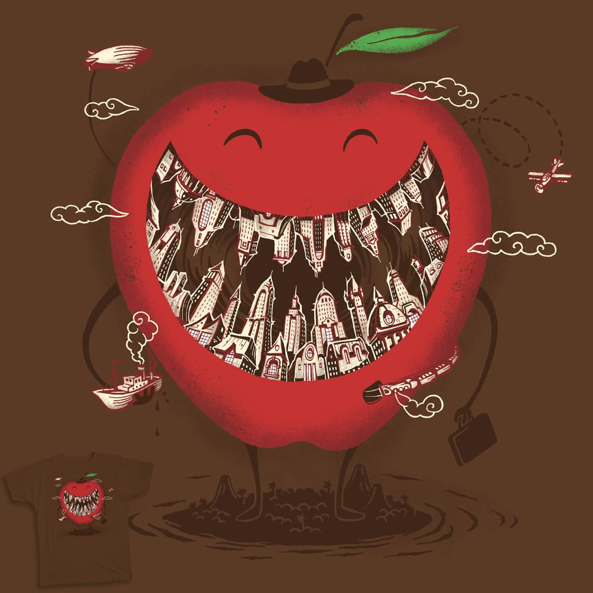 The BIG Apple! by alternik  on Threadless