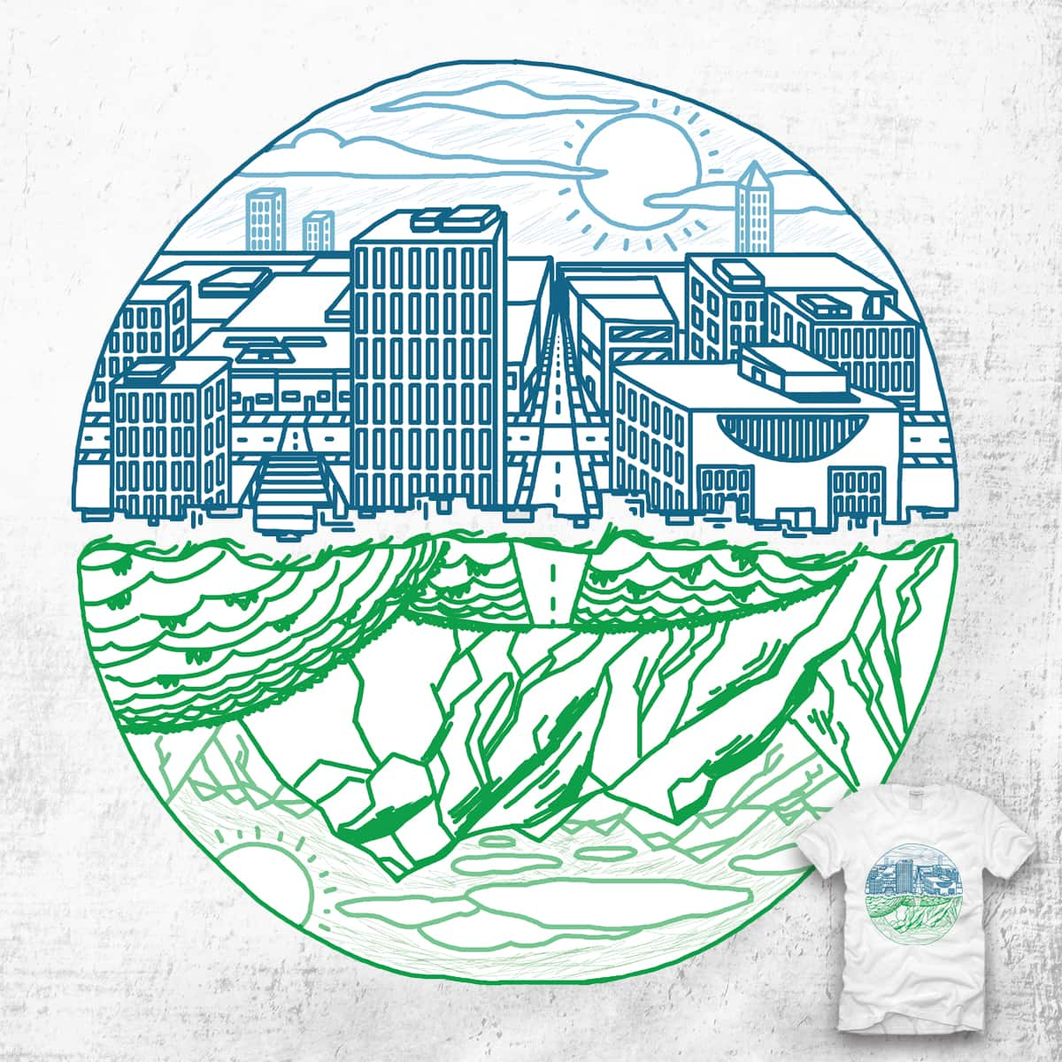 Urban over Rural by ccarretti on Threadless