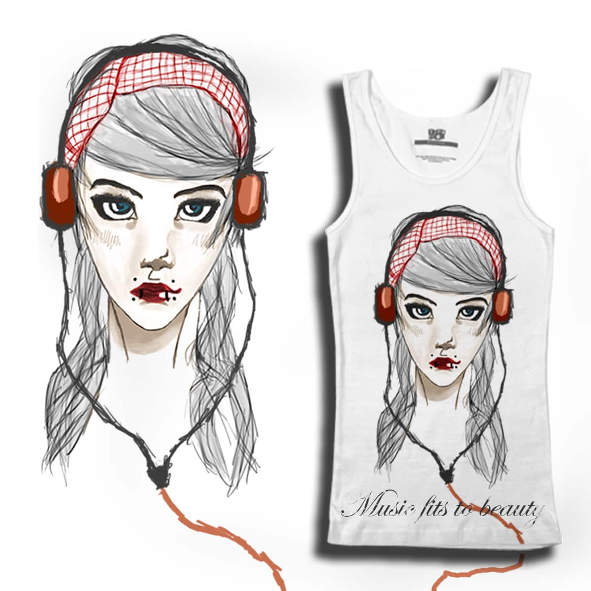 Music fits to beauty by Dudelix on Threadless