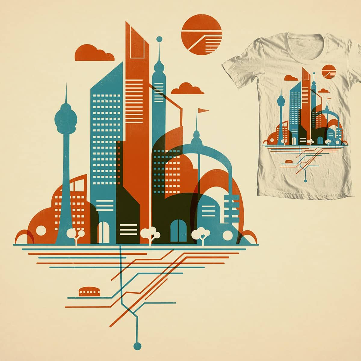 From the Subway to the Sky by DontCallMeBlanket on Threadless