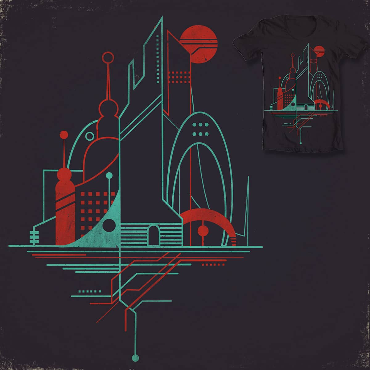 From the Subway to the Sky (at night) by DontCallMeBlanket on Threadless