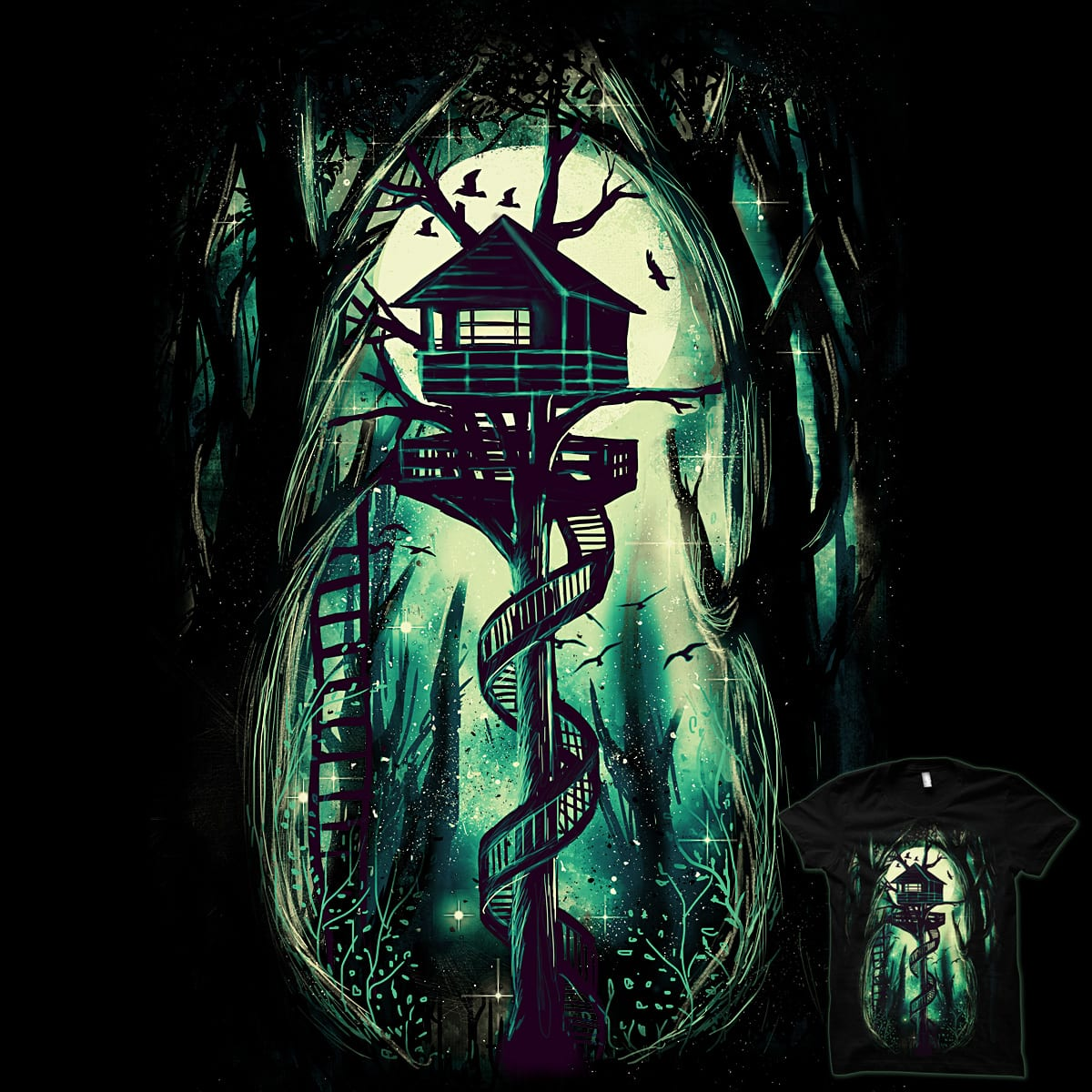 Magical Treehouse by pinkstorm on Threadless