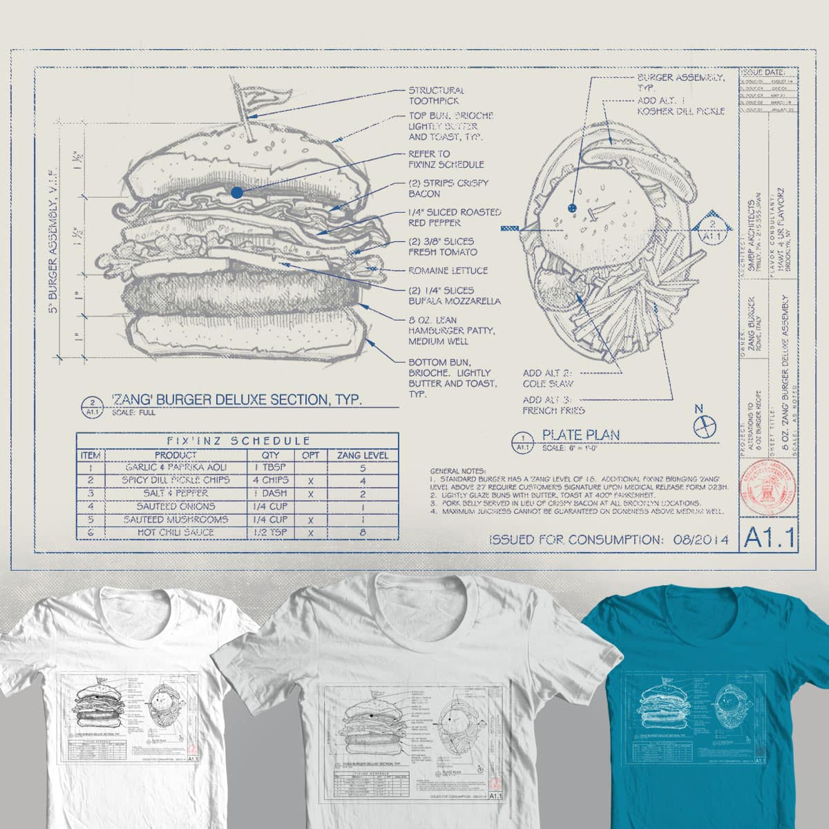 Refer to Fix'inz Schedule by Paul Sheaffer on Threadless