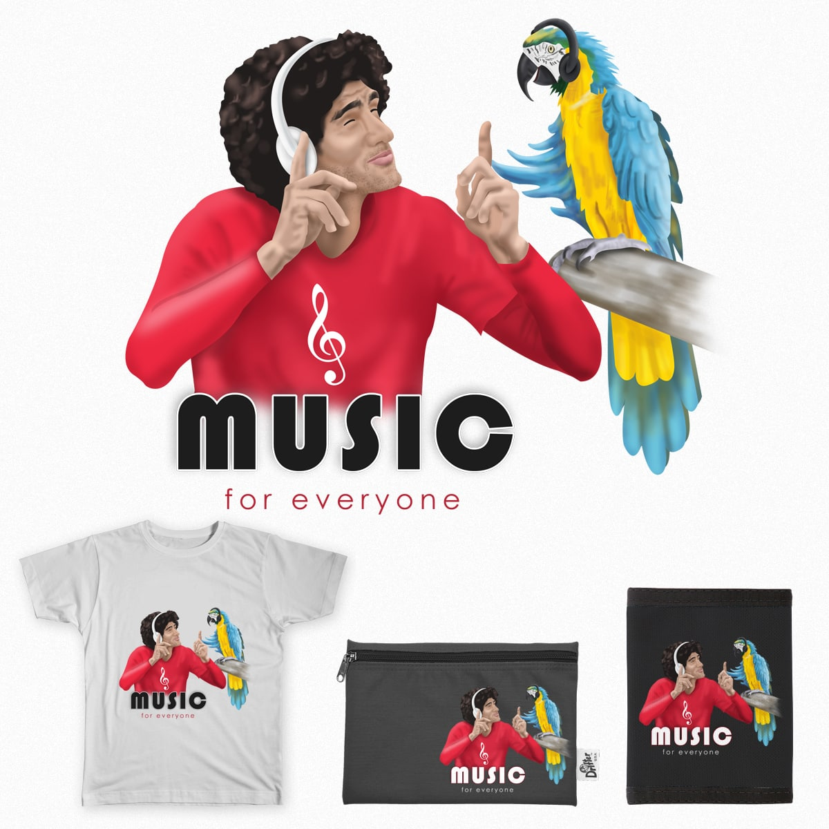 Music for All by VishwaCool on Threadless