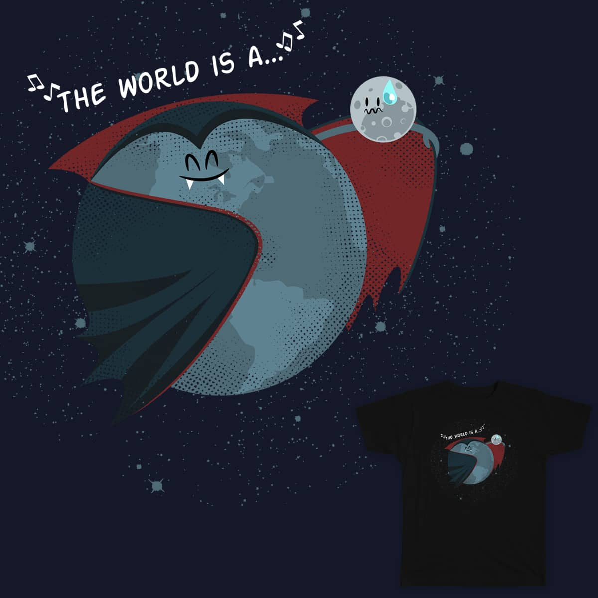 """The world is a Vampire"" by ByNate on Threadless"