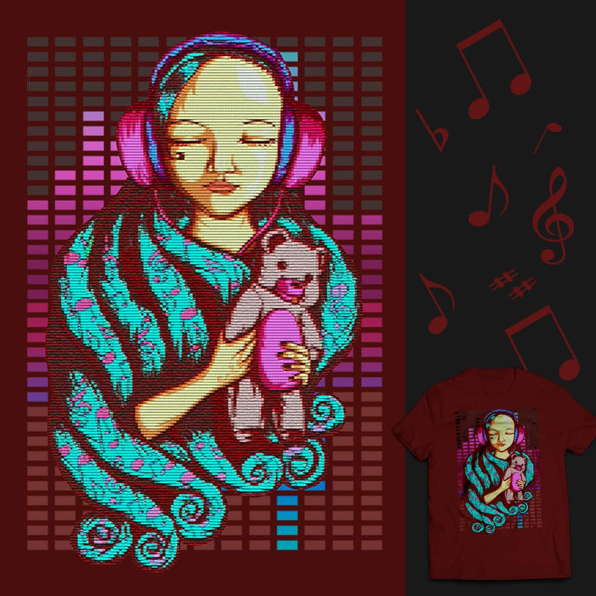 Music calms the heart by Badorskie555 on Threadless