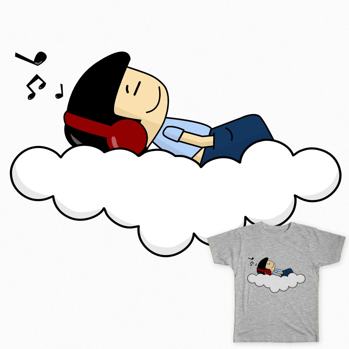 On Clouds by ohrie on Threadless