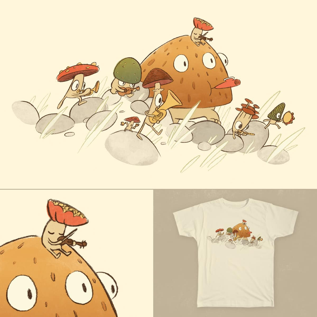 Mushroom Medley by JacobGerms on Threadless