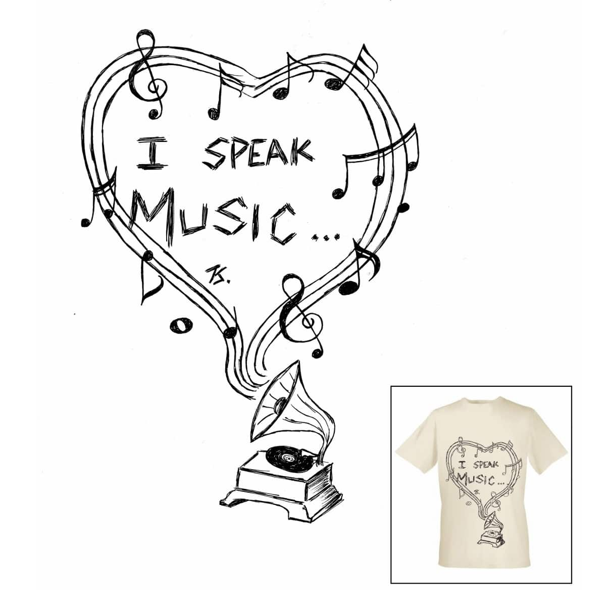 I speak Music by TavanS on Threadless