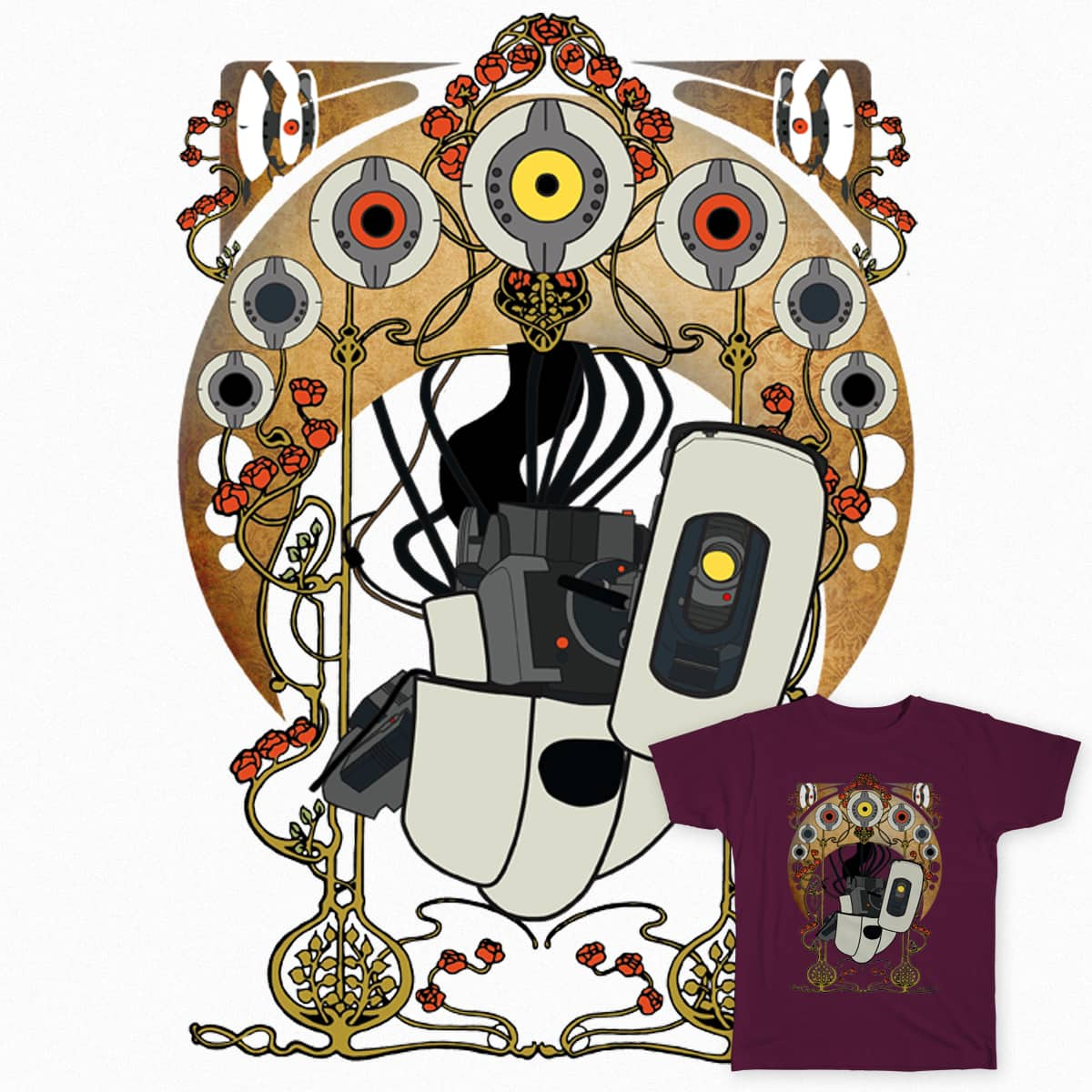 Art Nouveau Glados by atomicgirl on Threadless