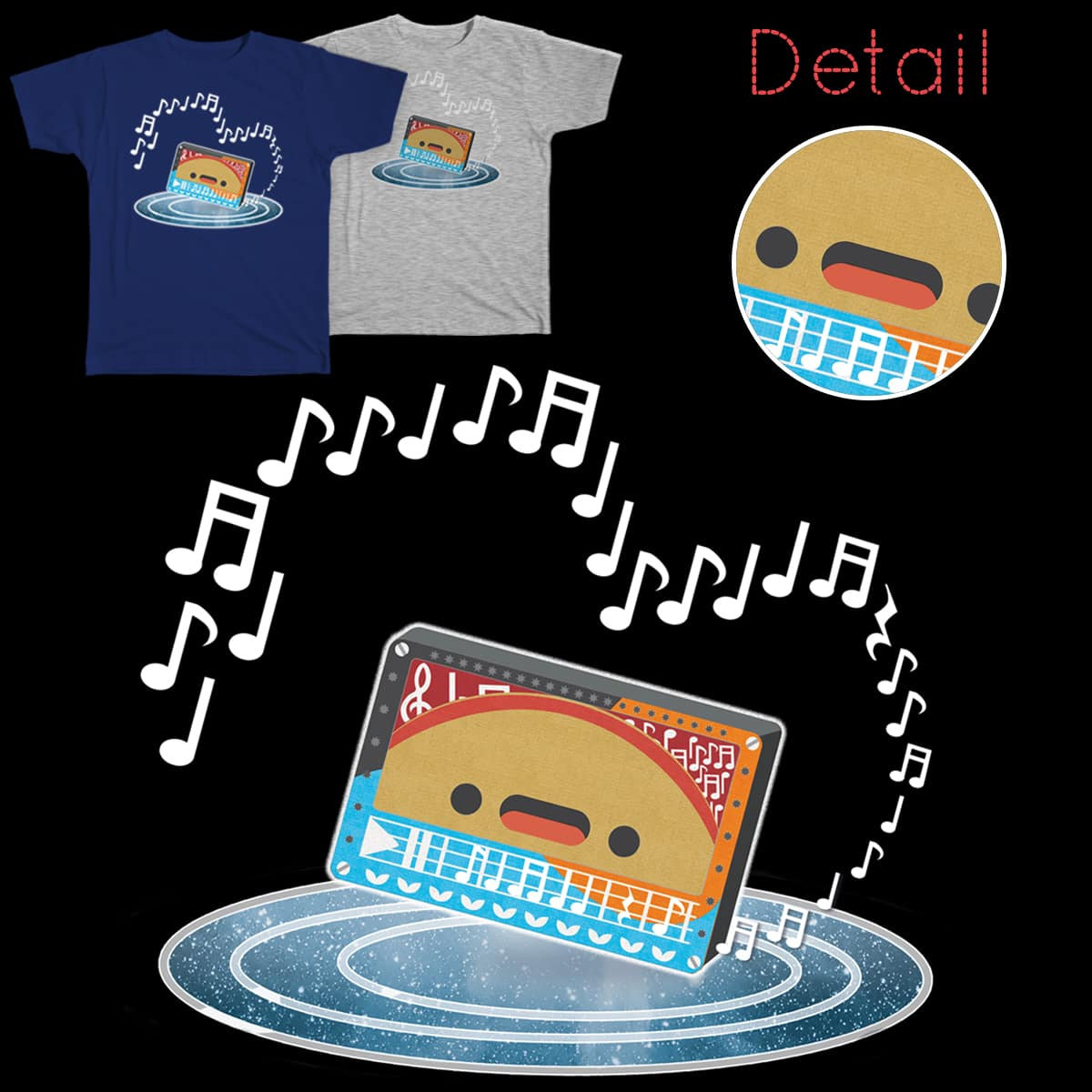 Music makes me taco! by sarasibylle on Threadless