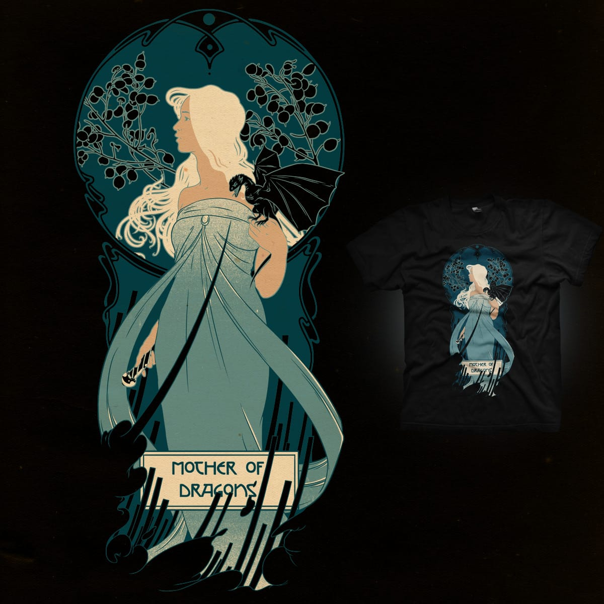 Mother of Dragons by mathiole on Threadless