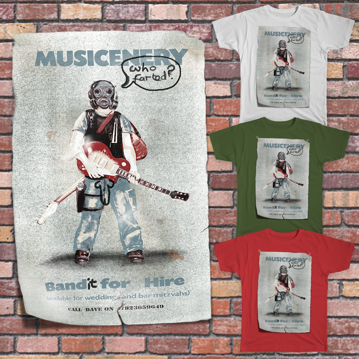 Musicenery - Band for Hire by TonyAlanCooper on Threadless