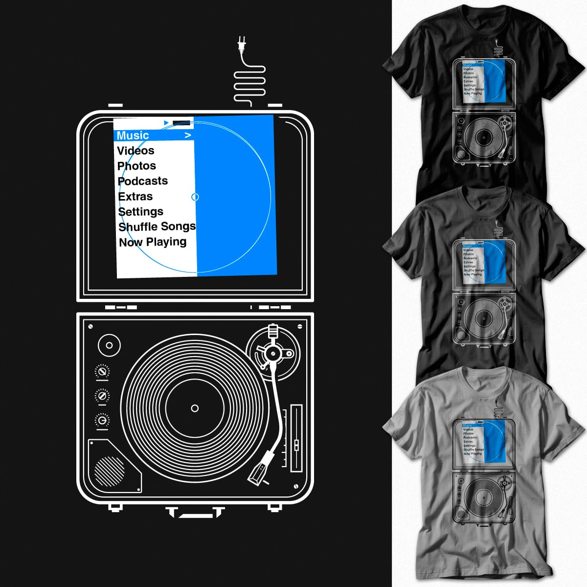 individual Phonograph Opening Device by iwilding on Threadless