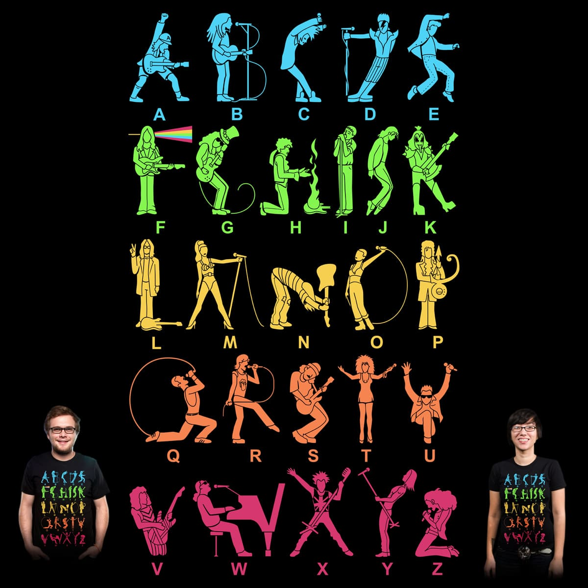 Musical alphabet a cool t shirt by graja on threadless Music shirt design ideas