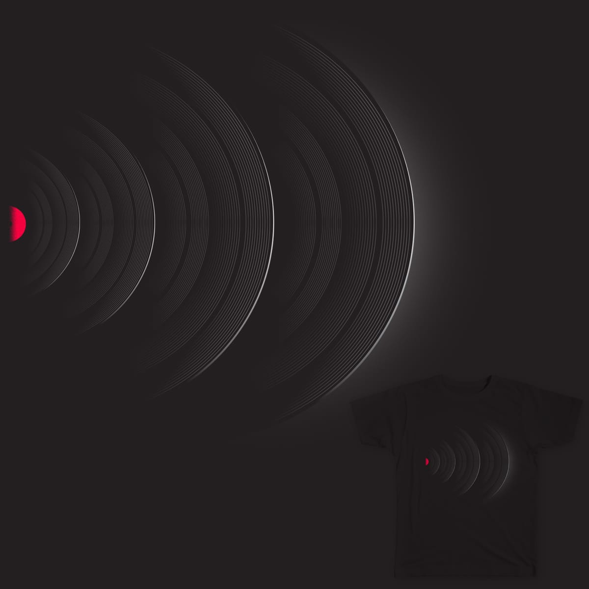 Vinyl waves by deepsyner on Threadless
