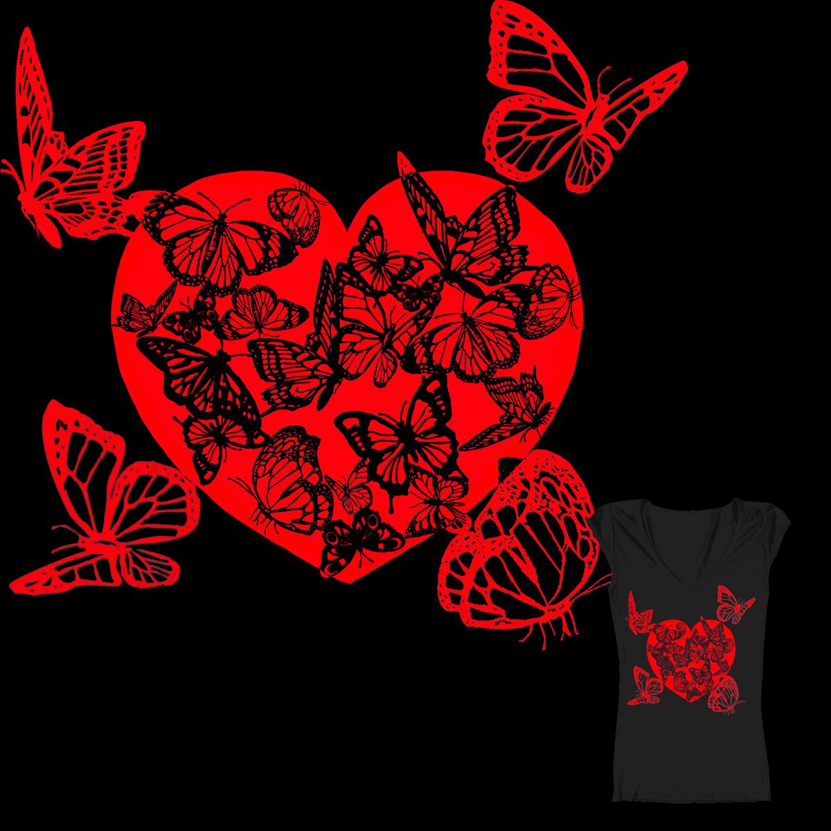 fluttery heart by parulbajaj on Threadless