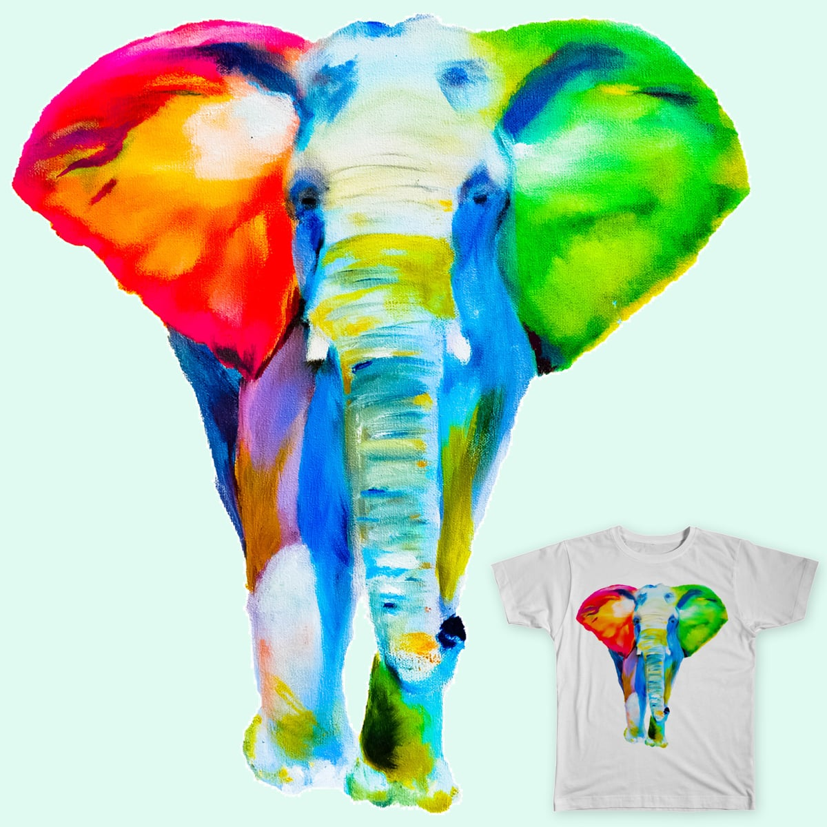 If elephants were colored…. by april.kappus on Threadless