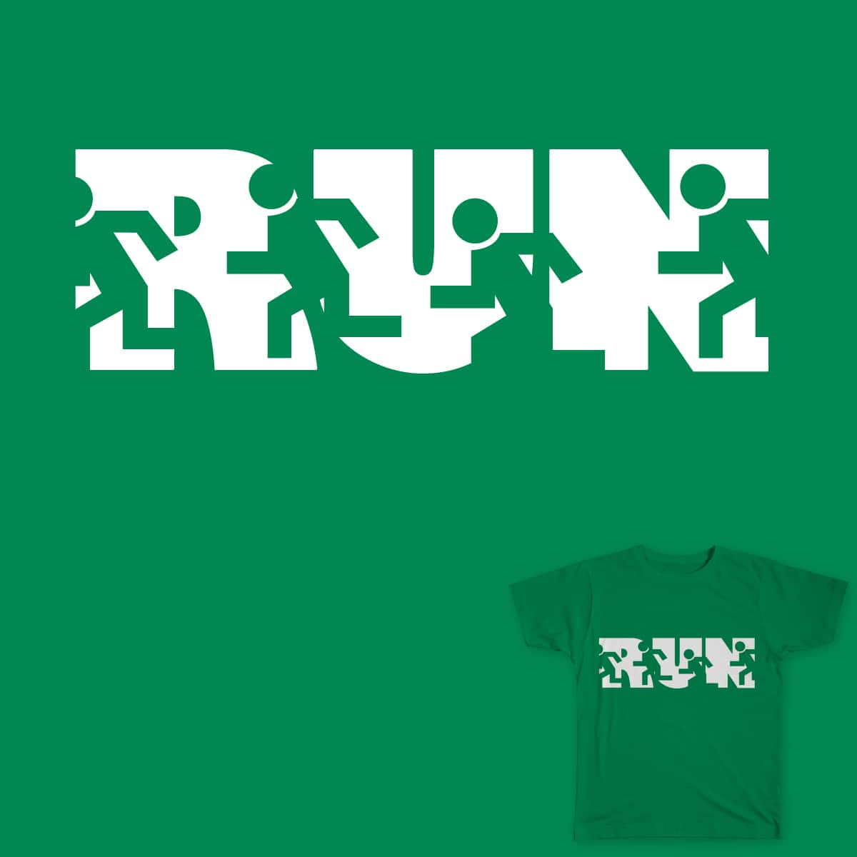Run! by wegi_ on Threadless