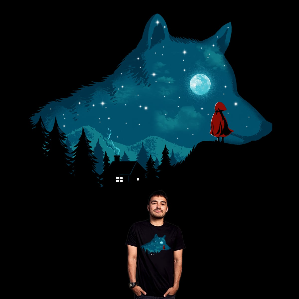 The Wolf Coming Out by ben chen on Threadless