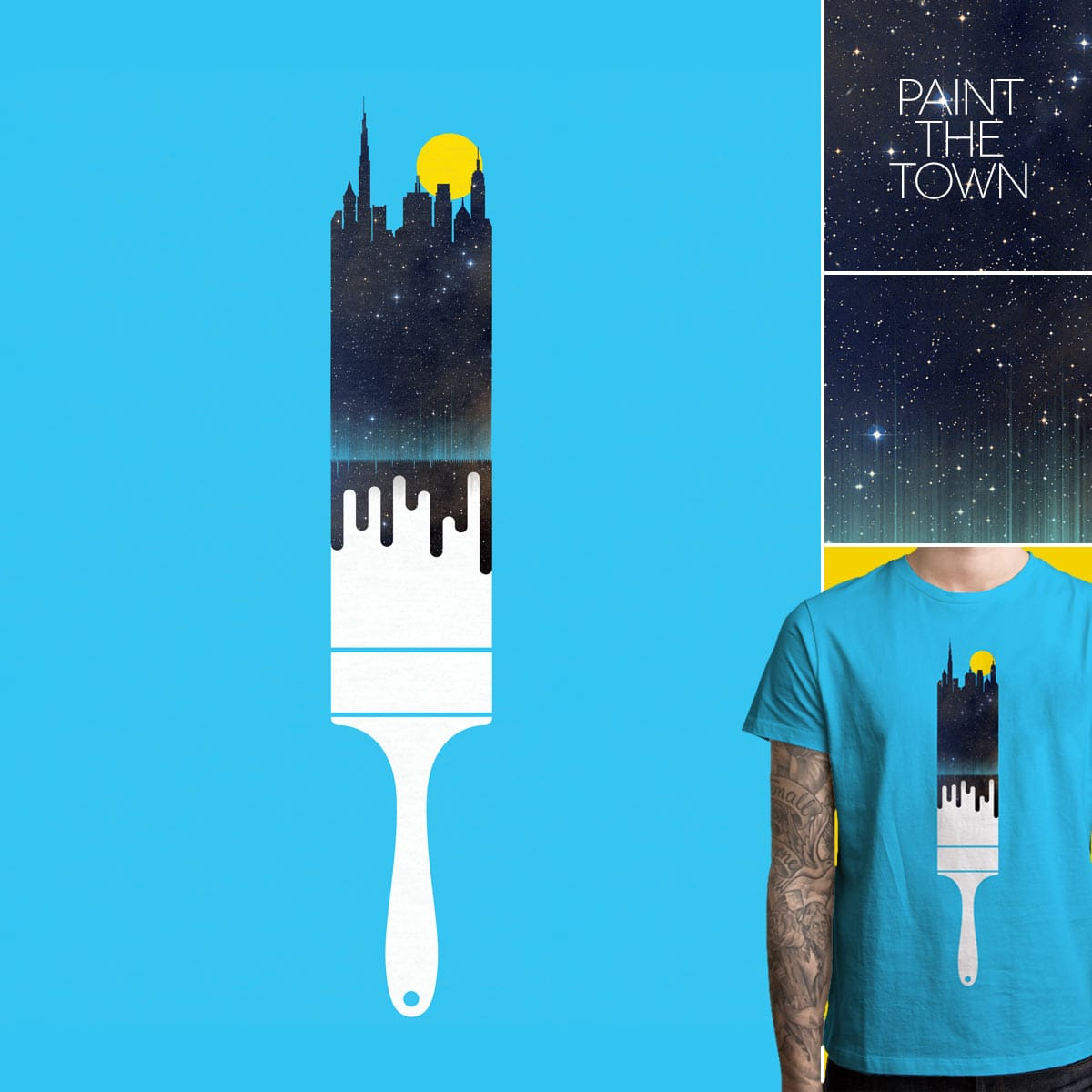 Paint the Town by quick-brown-fox on Threadless