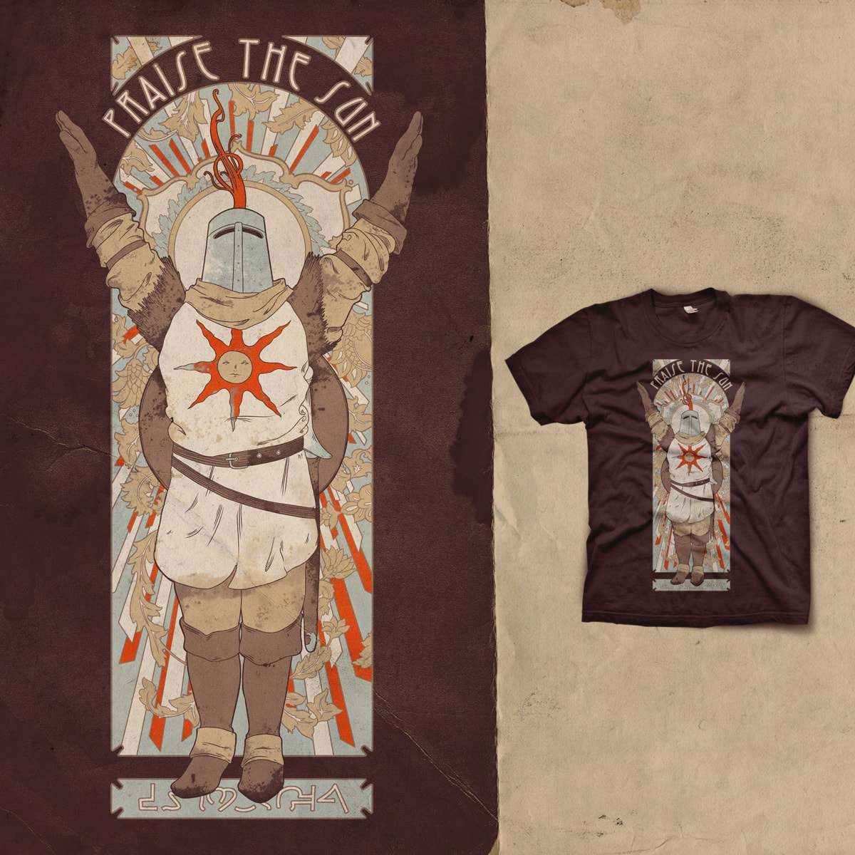 Praise the Sun by mathiole on Threadless