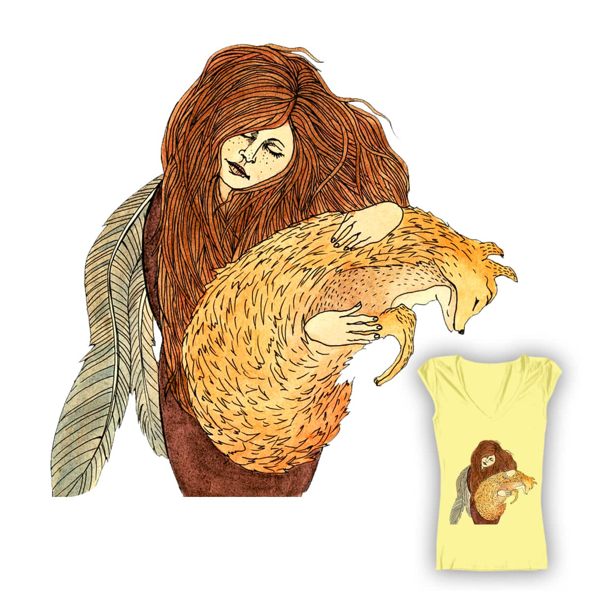 Mrs. Foxy by milk-and-honey on Threadless