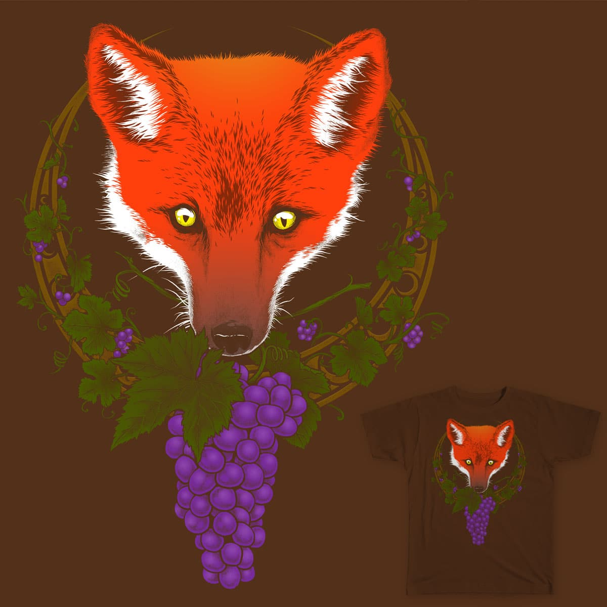 The Fox and the Grapes by scumbugg on Threadless