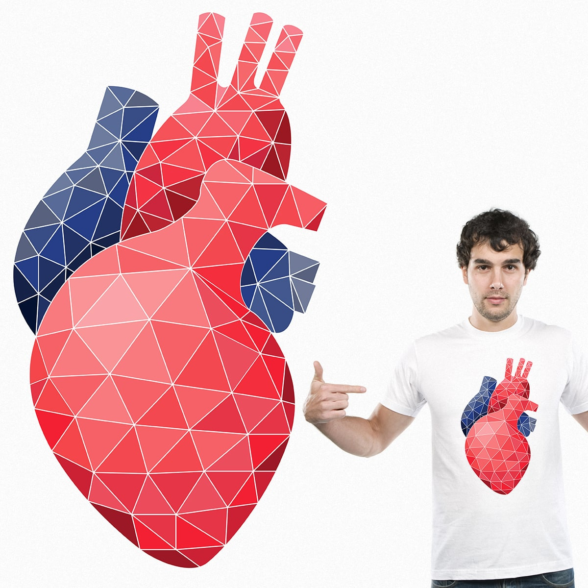 Triangle heart by Krab-Graphix on Threadless