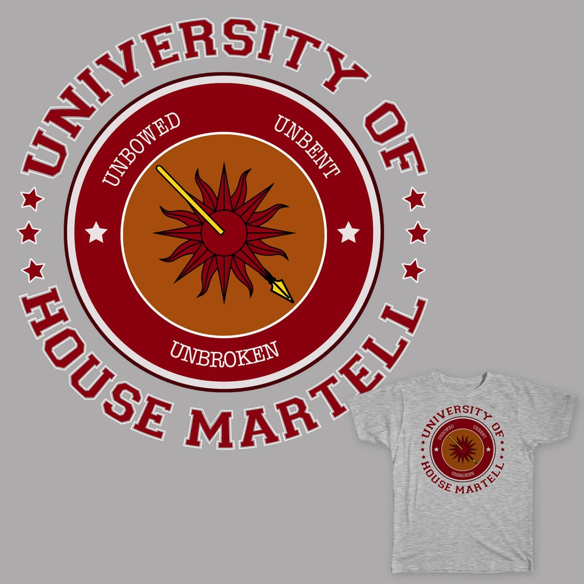 University of House Martell by mmatt88 on Threadless