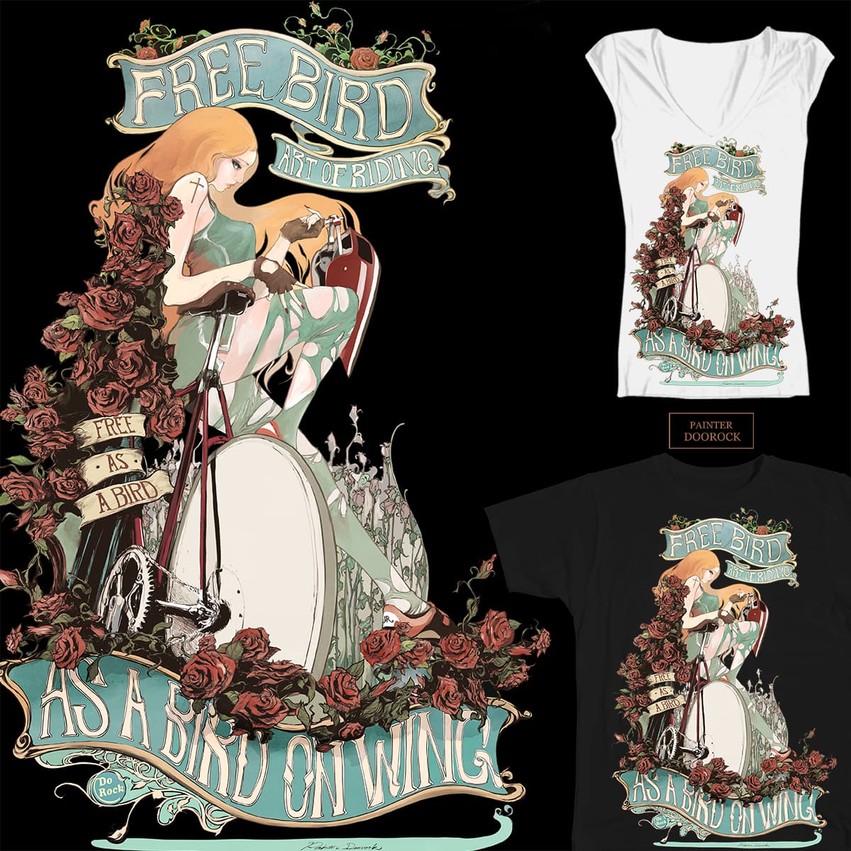 beautiful lady by doorocky on Threadless
