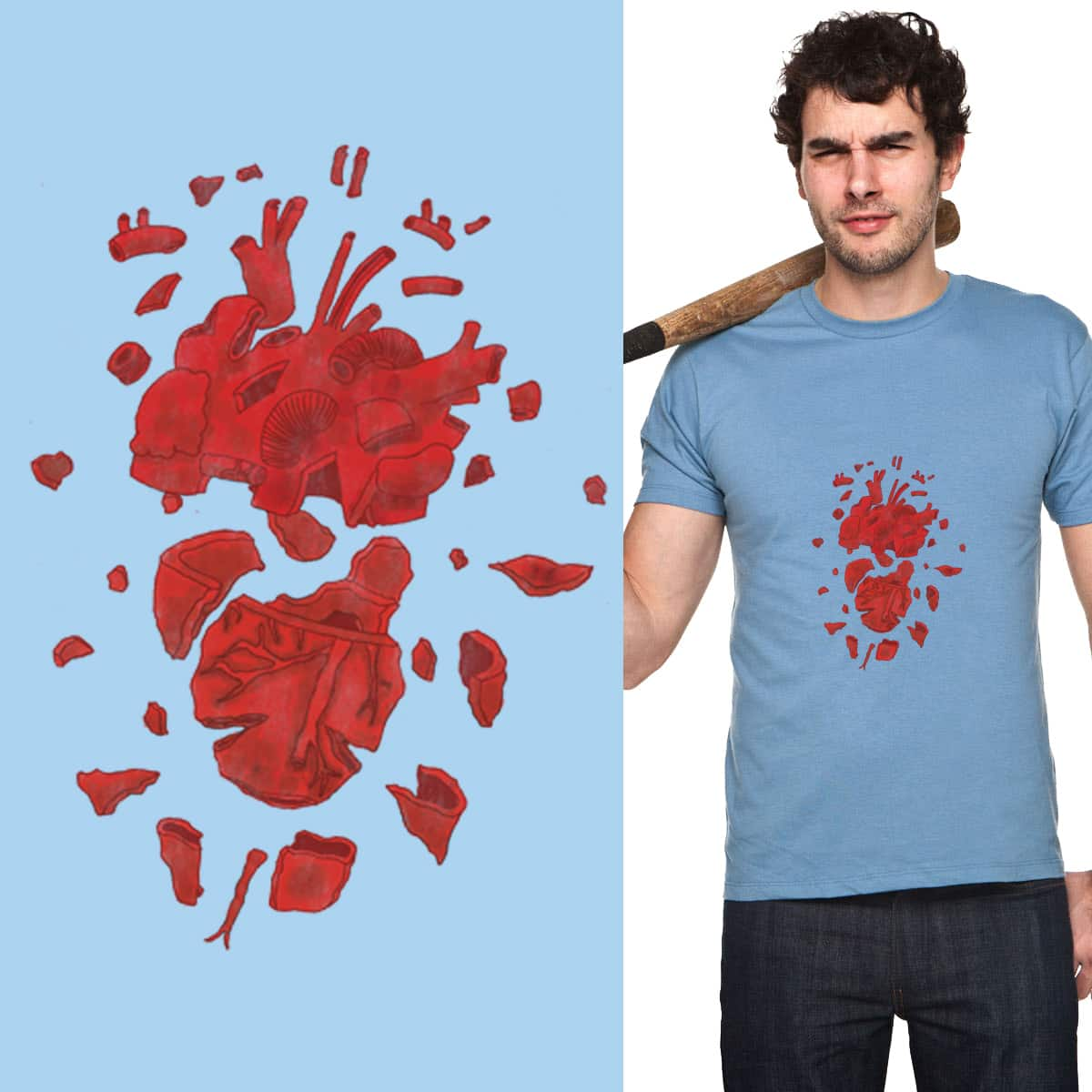 I'm A Broken Hearted Man by Eyedope on Threadless