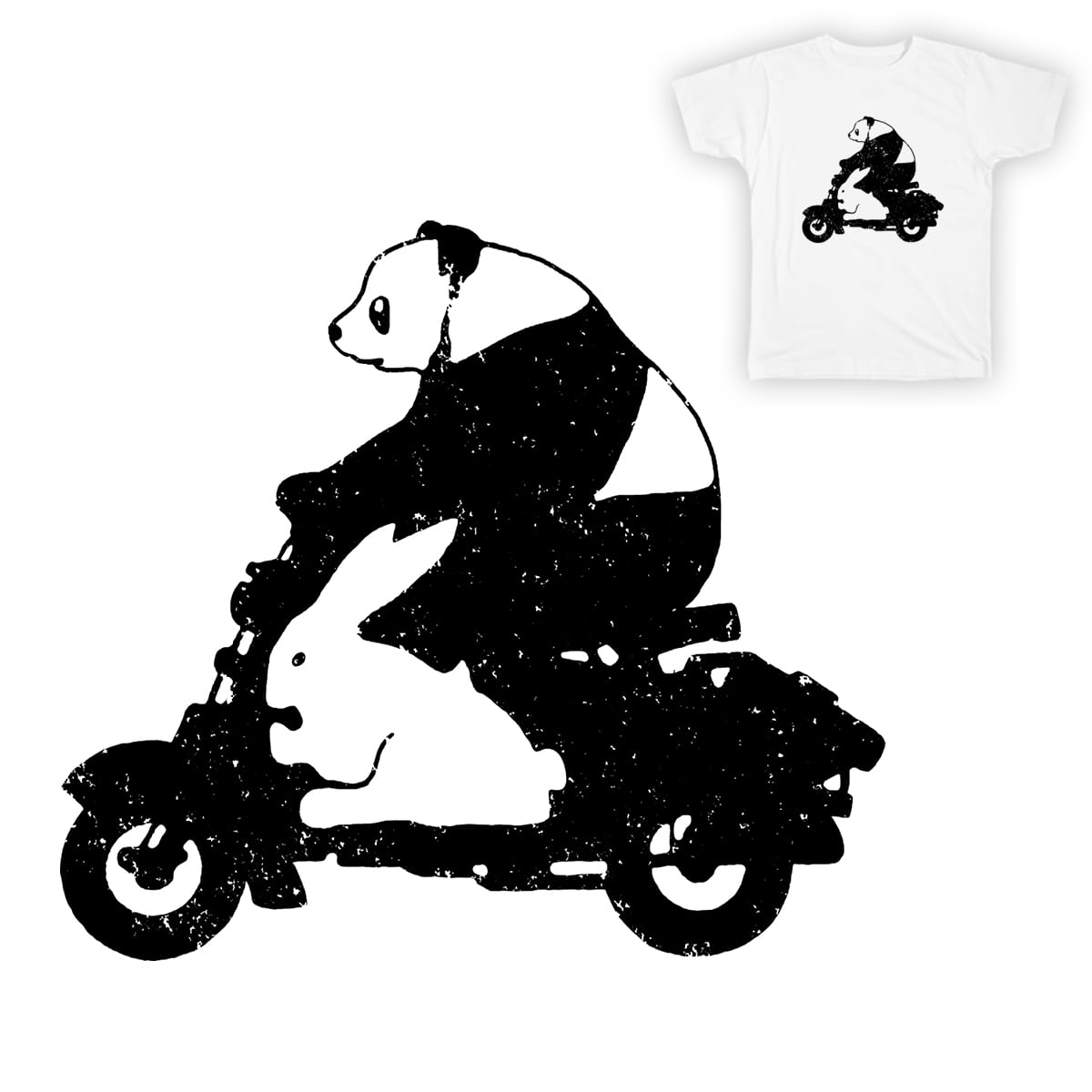 TWO GO RIDING by NARNIAZ on Threadless