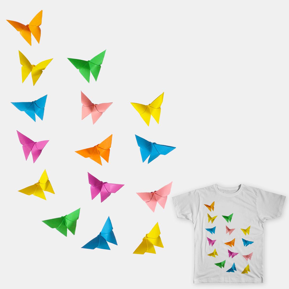 Origami Butterflies by -Mariska on Threadless