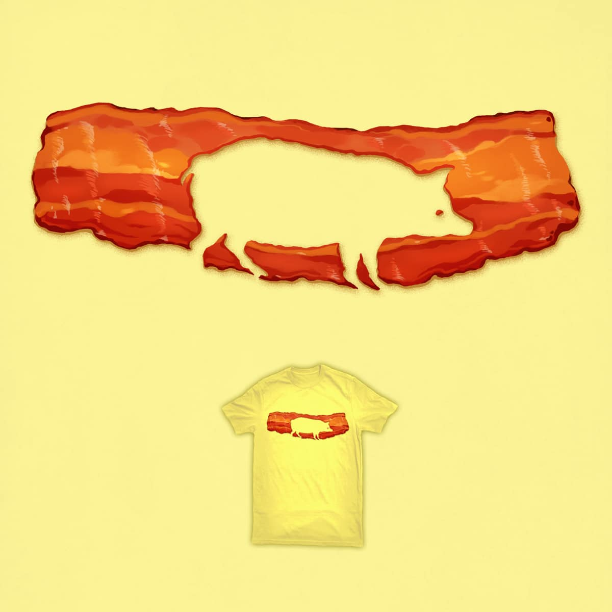 Bacon Pig by ben chen on Threadless