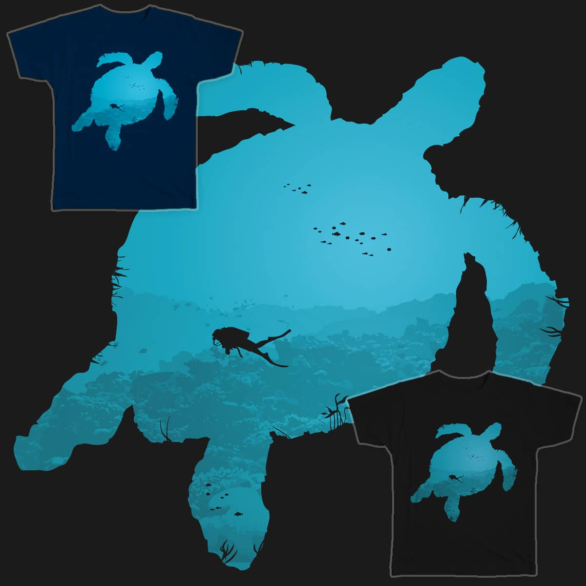 In Search For The Giant Sea Turtle by Flower Bean on Threadless