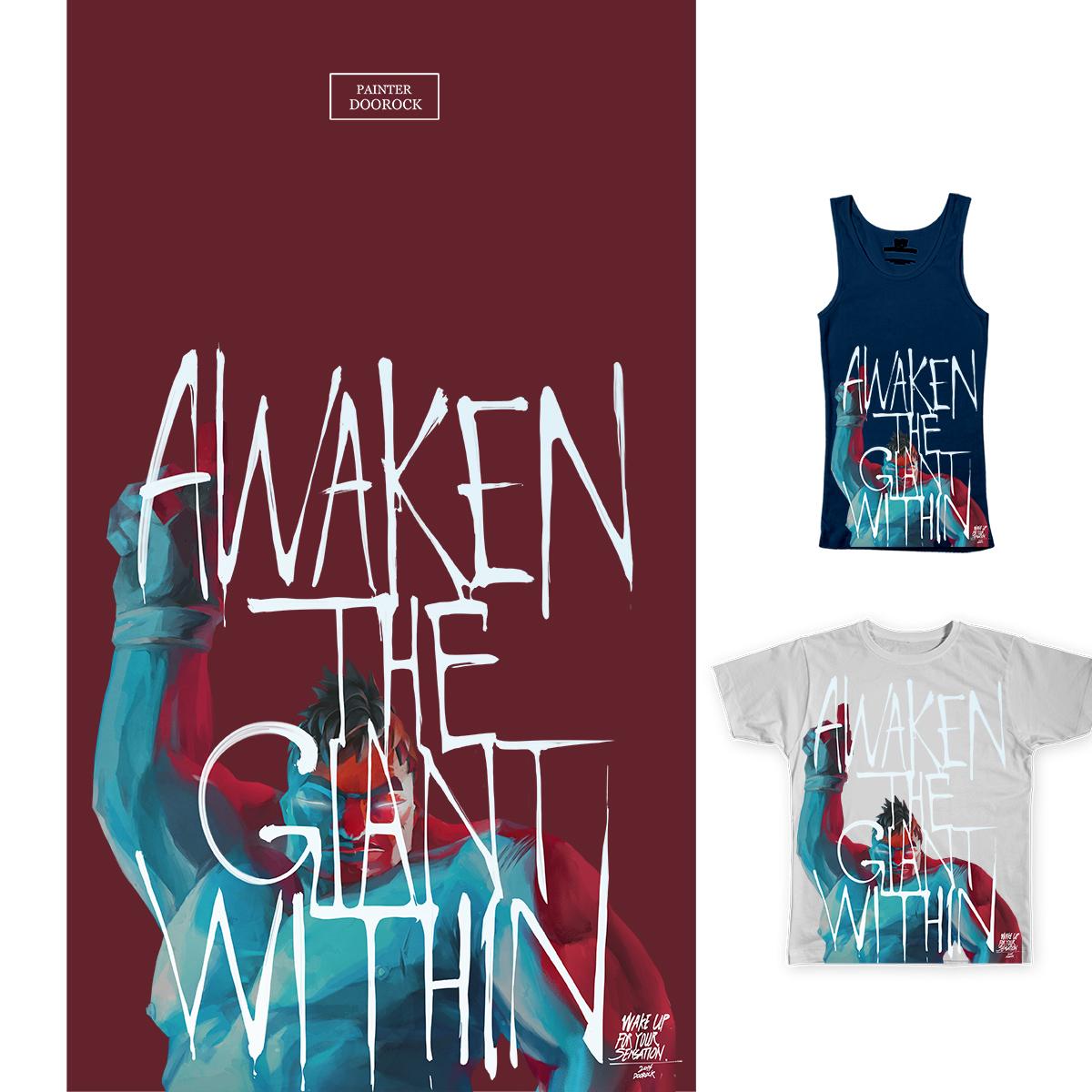 awaken the giant within!  by doorocky on Threadless