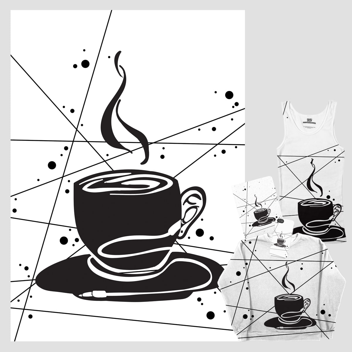 Coffee + Music by emeraldcharms on Threadless