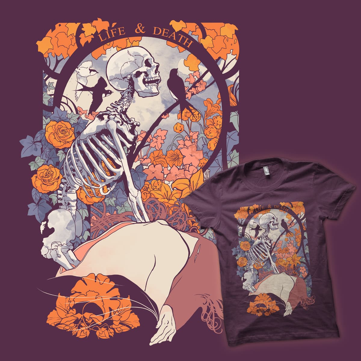 LIFE AND DEATH by SPYKEEE on Threadless