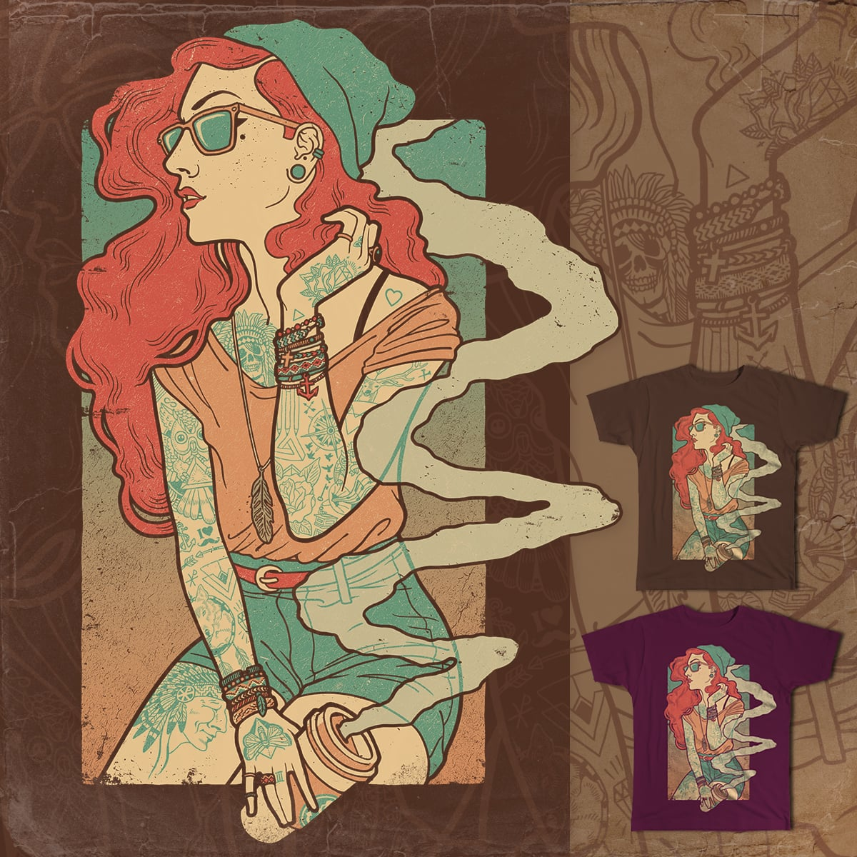 La Dame Bohème by smallsam52 on Threadless