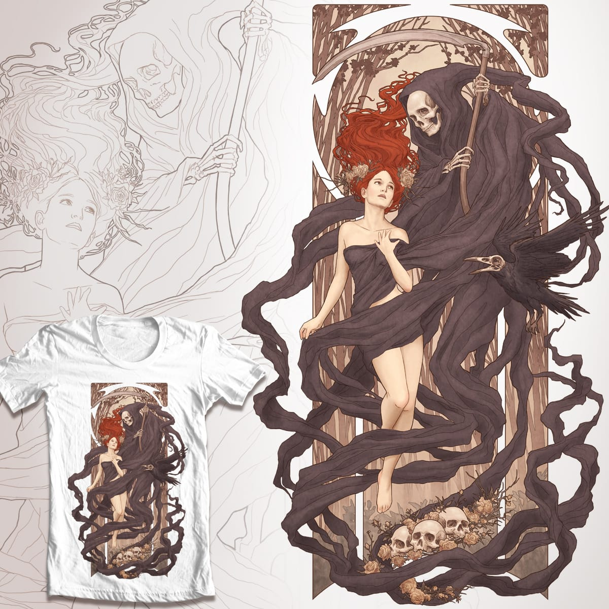 Le Passage des Morts Nouveaux by Moutchy on Threadless