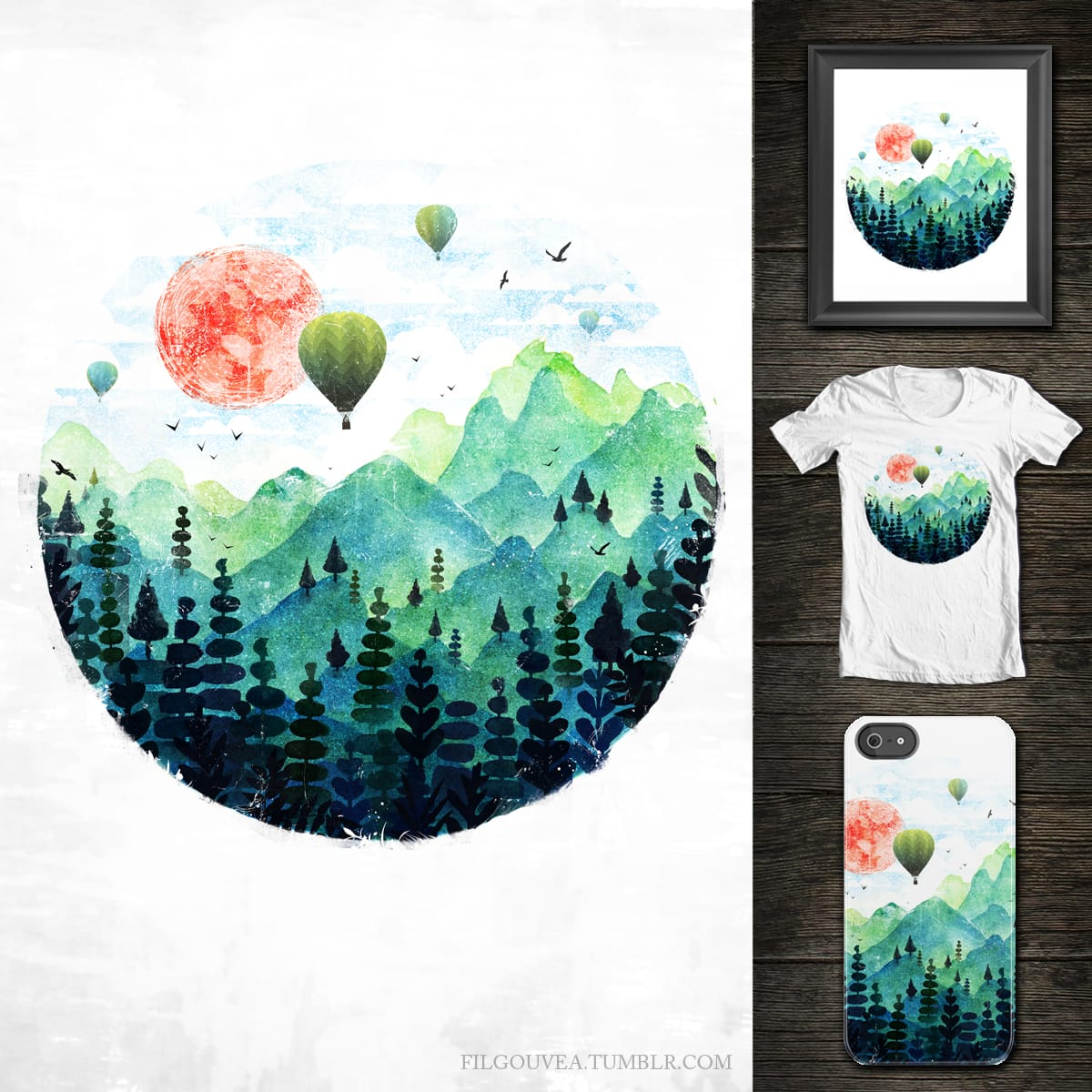 Roundscape by filgouvea on Threadless