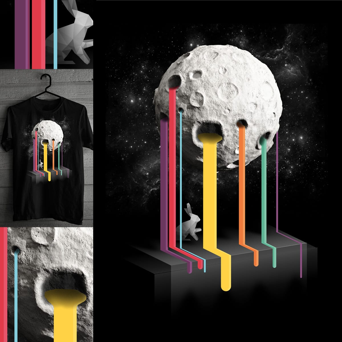 Melting Moon by D-maker on Threadless